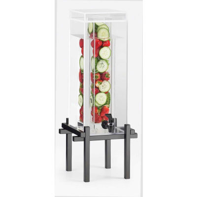 """Cal-Mil 1132-5INF-13 One by One 5 Gallon Dispenser 11-5/8""""W x 11-7/8""""D x 28-7/8""""H Black"""