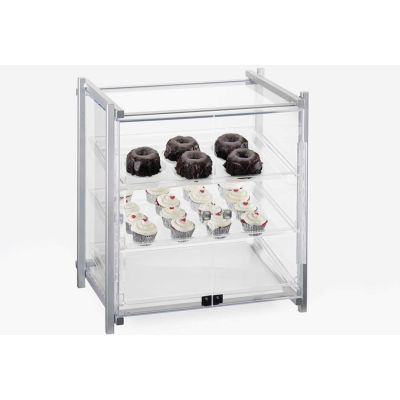 """Cal-Mil 1145-S-74 One by One Self-Serve Display Case 20-1/2""""W x 17""""D x 22""""H Silver"""