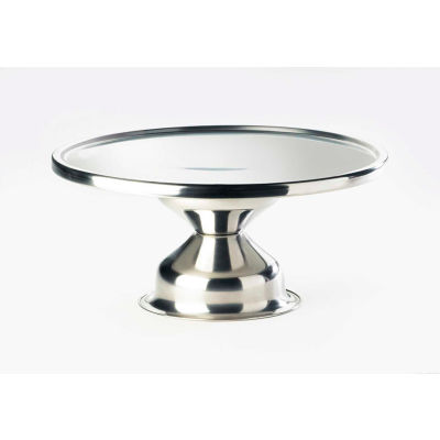 """Cal-Mil 1308 Stainless Steel Cake Stand Riser 12"""" Dia. x 7""""H"""