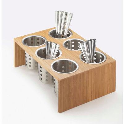 "Cal-Mil 1425-6-60 Bamboo 6 Cylinder Display 16""W x 11""D x 6""H"