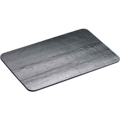 "Cal-Mil 1522-1014-65 Rectangle Slate Serving / Display Stone 10""W x 14""D x 1/4""H Black - Pkg Qty 6"