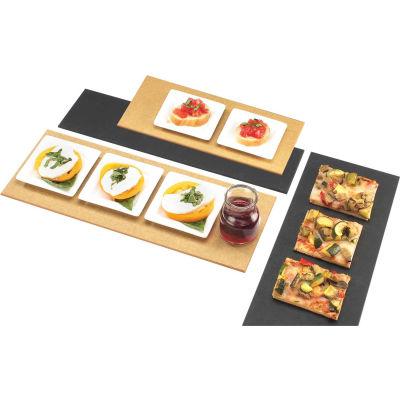 """Cal-Mil 1530-616-13 Rectangle Flat Bread Board 16""""L x 6""""W x 1/4""""H Black - Pkg Qty 3"""