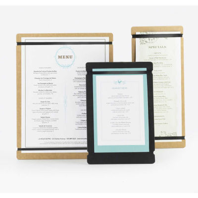 "Cal-Mil 2034-411-14 Menu Board 4""W x 11""H Natural - Pkg Qty 6"