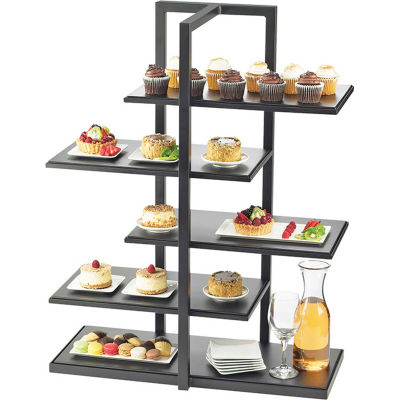"""Cal-Mil 3304-96 One by One Multi Level Shelf Display W/Silver Stand 28-1/2""""W x 13-1/2""""D x 36-1/2""""H"""