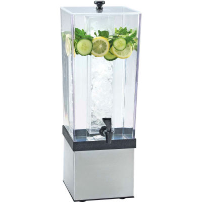 """Cal-Mil 3324-3INF-55 Econo Beverage Dispenser W/Inf. Chamber 3 Gal. 7-1/2""""W x 9-1/2""""D x 23-1/2""""H SS"""