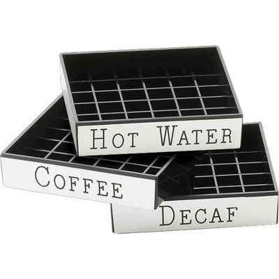 """Cal-Mil 632-3 Hot Water Engraved Drip Tray 4""""W x 4""""D - Pkg Qty 12"""