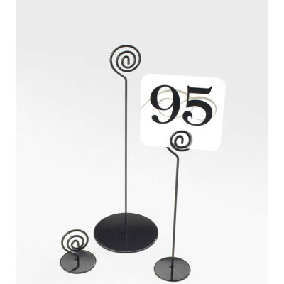"Cal-Mil 661-2-13 Iron Number Stand 2""W x 2""D x 2""H Black - Pkg Qty 12"