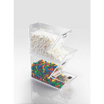 "Cal-Mil 927-N Stackable Topping Dispenser with Notch 4""W x 11""D x 7""H - Pkg Qty 2"