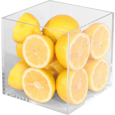 """Cal-Mil CC306 Clear Acrylic Cube 6""""W x 6""""D x 6""""H"""