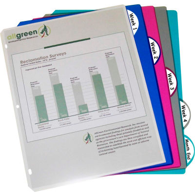 C-Line Products 5-Tab Poly Binder Index Dividers, Assorted, 5/ST (Set of 12 ST)