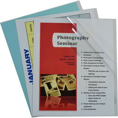 C-Line Products Report Covers Only, Vinyl, Clear, 11 x 8 1/2, 100/BX
