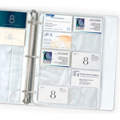 C-Line Products Business Card Holder, Poly without Tabs, Holds 20 Cards/Page, 11 1/4 x 8 1/8, 10/PK - Pkg Qty 7