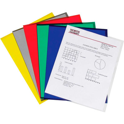 C-Line Products Project Folders, Assorted, Reduced Glare, 11 x 8 1/2, 25/BX - Pkg Qty 3