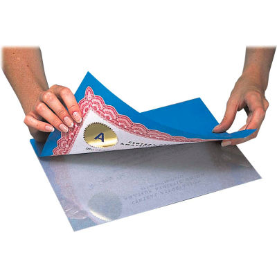 C-Line Products Heavyweight Cleer Adheer Laminating Sheets, Non-glare, 9 x 12, 50/BX