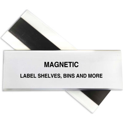 C-Line Products HOL-DEX Magnetic Shelf/Bin Label Holders, 2  Inch Magnetic Label Holder, 10/BX