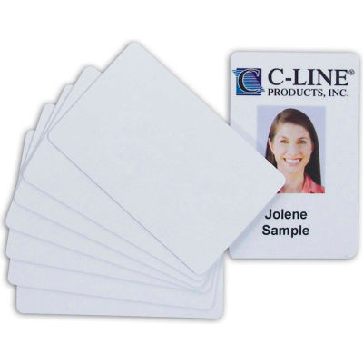 C-Line Products Graphics Quality Video Grade PVC Card, White, 100/PK