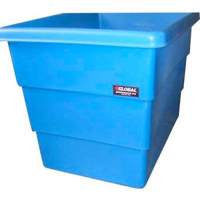 Dandux Plastic Bulk Container 510072014 - Step Wall, 14 Bushel, Blue