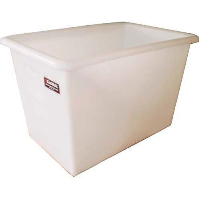 Dandux FDA Approved Plastic Bulk Container, Smooth Wall, 6 Bushel, Natural