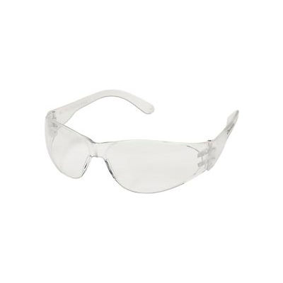 MCR Safety CL110 Crews Checklite Safety Glasses, Clear Lens, Clear Frame, Anti-Scratch