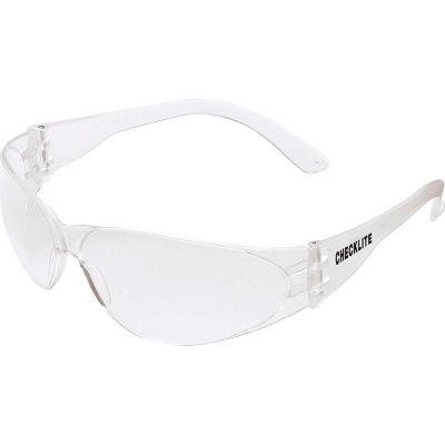 MCR Safety CL110AF Crews Checklite Safety Glasses, Clear Lens, Clear Frame, Anti-Fog, 1-Pair