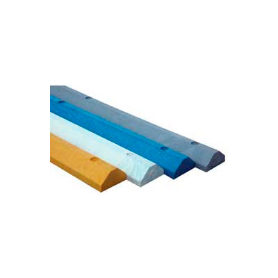 """Lightweight Recycled Plastic Car Stop, 72""""L x 6""""W x 3-1/4""""H, Gray"""