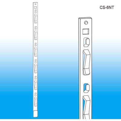"Clip Strip®, 6 Station, No Tape, 16-1/2""L, White - Pkg Qty 500"