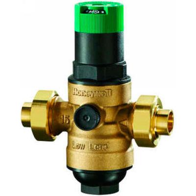 "Honeywell 1/2"" DS06 Dialset Low Lead Pressure Regulating Valve - Double Union NPT"