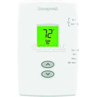 Honeywell PRO 1000  Non-Programmable Vertical Thermostat  2H/1C Heat Pump TH1210DV1007