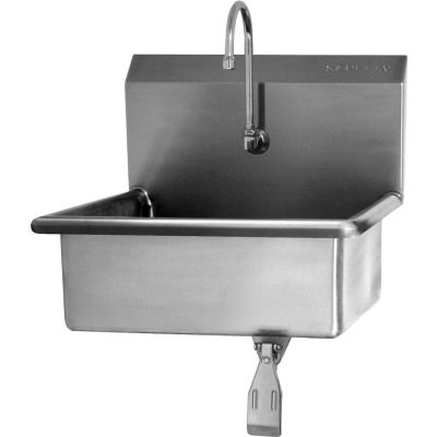 Sani-Lav® 5041 Wall Mount Sink With Single Knee Pedal Valve