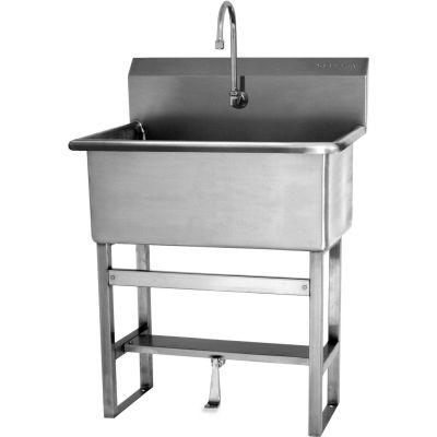 Sani-Lav® 531F1 Floor Mount Scrub Sink With Single Foot Pedal Valve