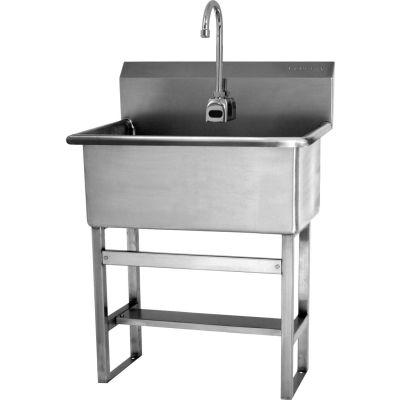 Sani-Lav® 531FB Floor Mount Scrub Sink With Battery Powered Sensor