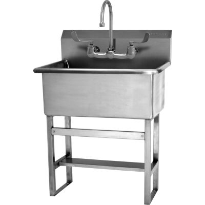 Sani-Lav® 531FF Floor Mount Scrub Sink With Faucet