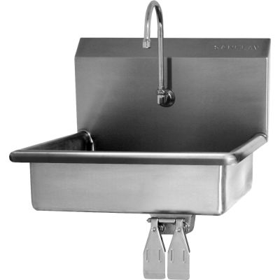 Sani-Lav® 5A4F-0.5 Wall Mount Sink With Low-Flow Faucet