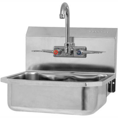 Sani-Lav® 605FL Wall Mount Sinks With Faucet NSF/ANSI 372