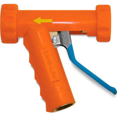 Sani-Lav® N81 Large Low-Flow Industrial Spray Nozzle - Safety Orange