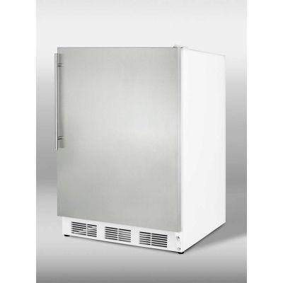 Summit CT66JSSHVADA ADA Comp Freestanding Refrigerator-Freezer 5.1 Cu. Ft. White/Stainless Steel