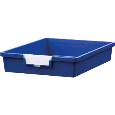 "Certwood Standard Width Single Depth Storage Tote Tray CE1950PB - 16-3/4""L x 12-5/16""W x 3""H Blue - Pkg Qty 10"