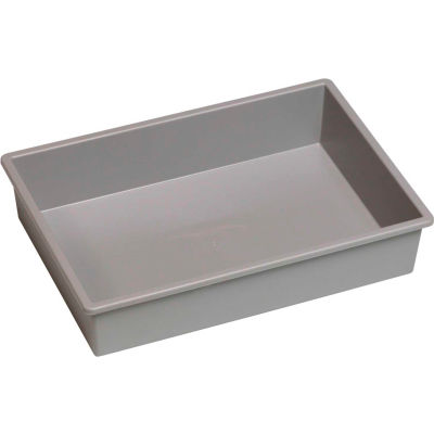"""Certwood Stortray Insert CE4004 - Single Division  7-7/8""""L x 11-1/4""""W x 2-3/8""""H Light Gray - Pkg Qty 10"""