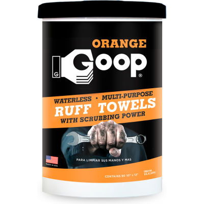 Goop® Orange Ruff Towels, 72 Wipes/Can, 6 Cans - 950