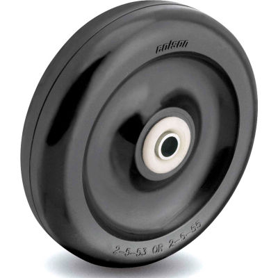 Colson® 2 Series Wheel 2.00004.55 - 4 x 1-1/4 Polyolefin 3/8 Annular Ball Bearing - Black