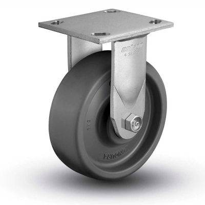 "Colson® 4 Series Rigid Plate Caster 4.06108.8P5.EN - Solid Elastomer 6"" Dia. 1100 Lb."
