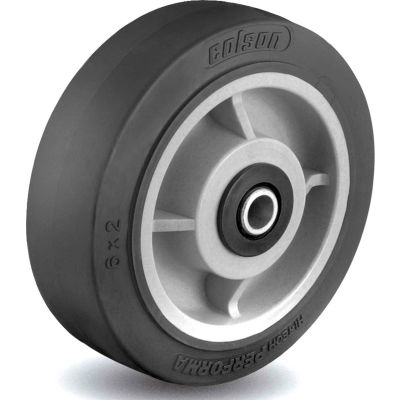 Colson® 2 Series Wheel 5.00005.459.2 WS - 5 x 2 Performa Rubber 1/2 Straight Roller Bearing