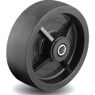 Colson® 2 Series Wheel 5.00008.839 WS - 8 x 2 Polyolefin 1/2 Straight Roller Bearing - Black