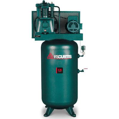 FS-Curtis FCA07E57V8S-A3L1XX, 7.5 HP, Two-Stage Comp., 80 Gal, Vert., 175 PSI, 23.2CFM, 3-Phase 230V