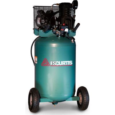 FS-Curtis FCT02C48V3X-A1X1XX, Portable Electric Air Compressor, 2HP, 30 Gallon, Vertical, 5.5 CFM