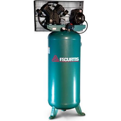 FS-Curtis FCT05C30V6X-A2X1XX, 5 HP, Single-Stage Comp, 60  Gal, Vert., 135 PSI, 16 CFM, 1-Phase 230V