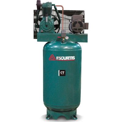 FS-Curtis FCT05C55V8S-A3L1XX, 5 HP, Two-Stage Comp., 80 Gallon, Vert., 175PSI, 17.8CFM, 3-Phase 230V