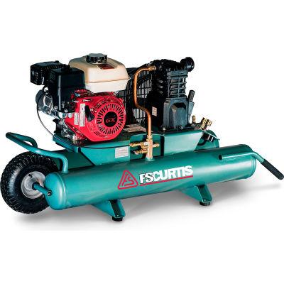 FS-Curtis FCTHEC47H9X Portable Gas Air Compressor w/ Honda Engine, 5.5 HP, 9 Gallon, Wheelbarrow