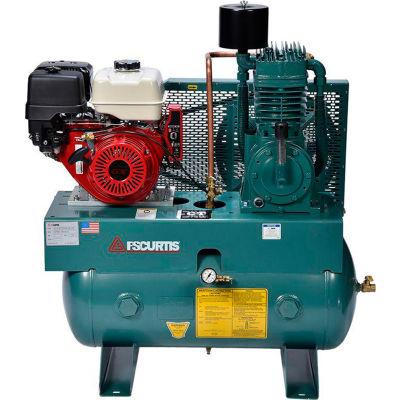 FS-Curtis FCTHEC75H3X-AXL1XX, 13 HP, Stationary Gas Comp, 30 Gal, 175 PSI, 24.8 CFM, Honda, Electric