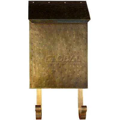 Provincial Series Vertical Wall Mount Mailbox in Hammered Antique Brass